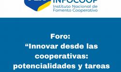 Foro de Innovación: PEN-INFOCOOP